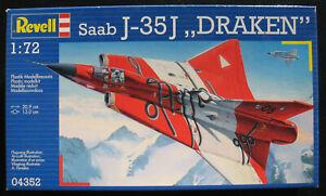 Revell-04352-Saab-J-35J-DRAKEN-1-72-Flugzeug-Modellbausatz-Model-KIT