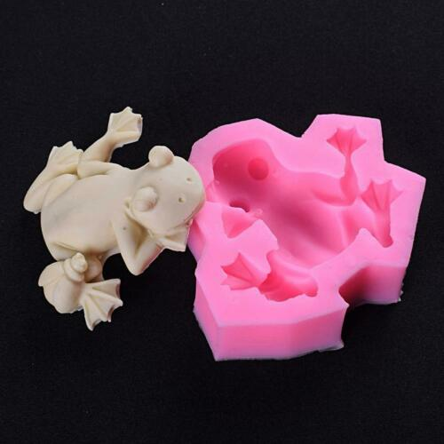Frog Shape Silicone Chocolate 3D Mold Candy Cookies DIY Cake Mould Tool V5Y2