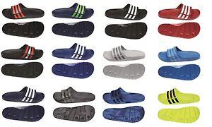 newest 56c10 e071b Das Bild wird geladen adidas-Adilette-Duramo-Slide-Badeschuhe -Badelatschen-bis-Gr-