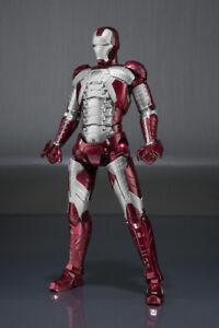 Iron Man Mark 5 Mk V Ensemble d'armure d'armure S. H. Sh Figure d'action Figuarts Bandai
