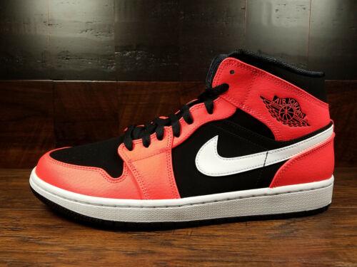 Nike Air Jordan 1 Mid [554724-061] (Black / Infrared 23 / White) AJ1 Mens 8-13