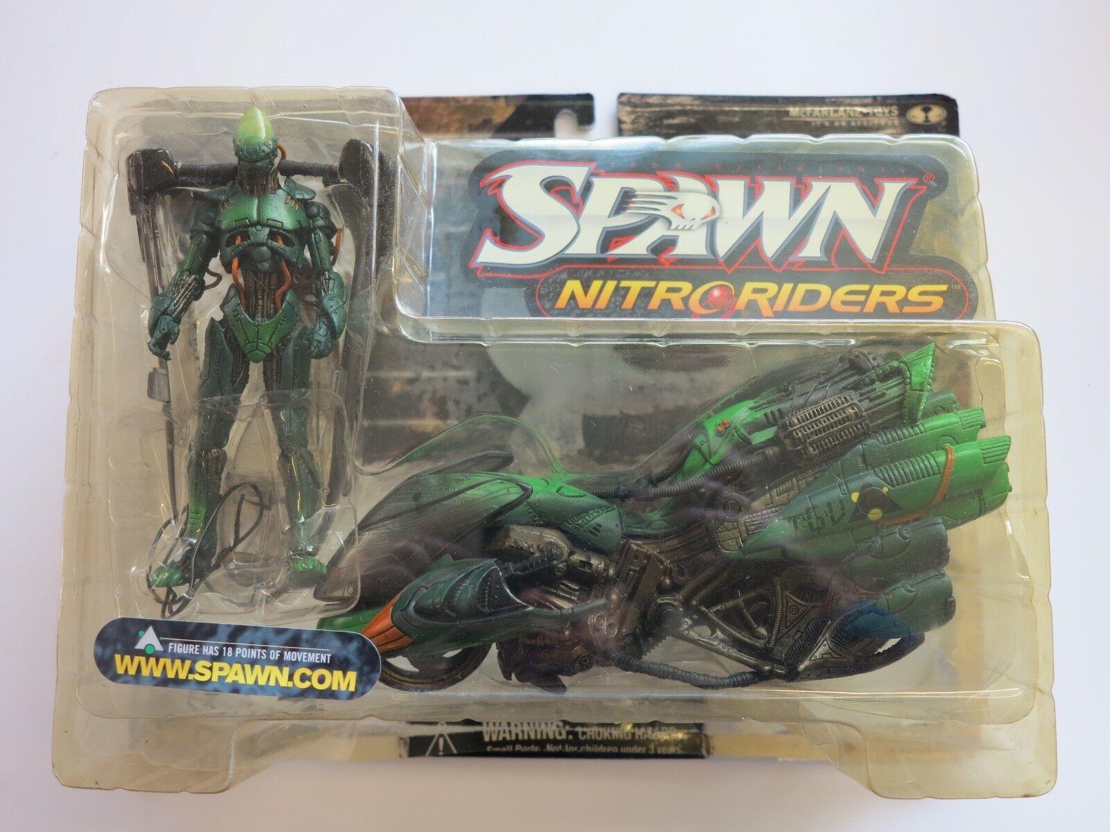 Rare 1999 SPAWN Nitro Riders figure set green vapor