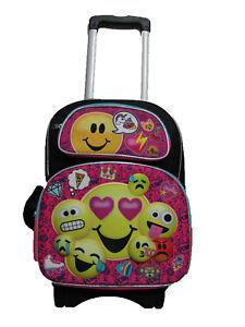 B17EM34803 3-D EMOJI Emojination Large Custom Rolling Backpack 17 ...
