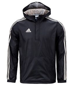 b8d15d519 Image is loading Adidas-Men-Tango-Windbreaker-Hood-Jacket-Black-White-