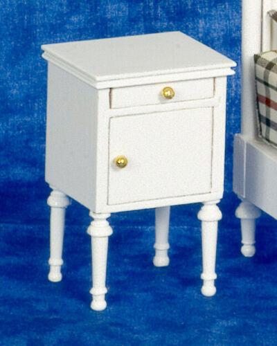 Casa De Muñecas Muebles de calidad escala 1:12 Soporte de noche blanco T5484