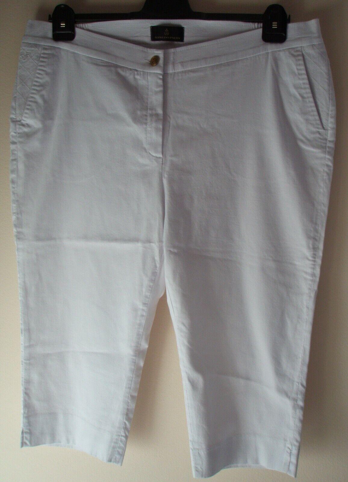 77faaaff7cc880 Alfroto Pauly weiße 6 8 Hose Capri Shorts Jeans Denim Stretch Gr. 50 weiß  Neu