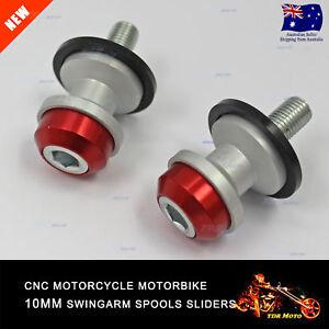 Red-CNC-Swingarm-Spools-10MM-2pcs-For-Kawasaki-Ninja-300-R-13-16-13-14-15-16-M10