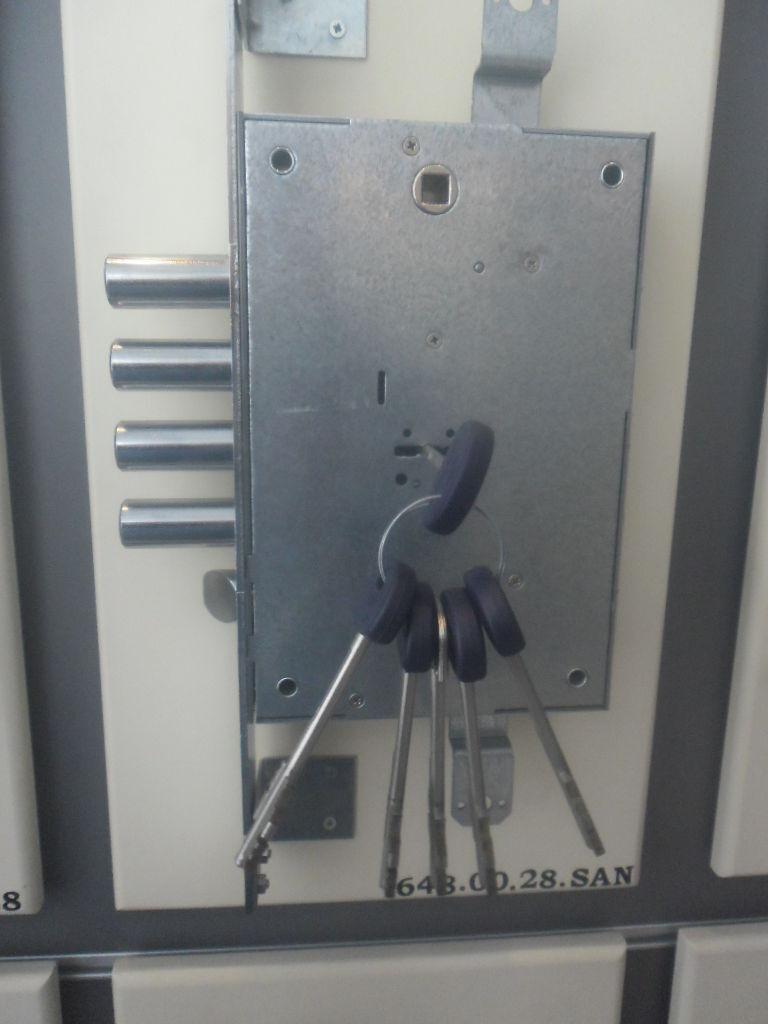 Fiam-cierres 648 Hecho En Italia Alto de bloqueo de seguridad para puertas blindado con 5 llaves