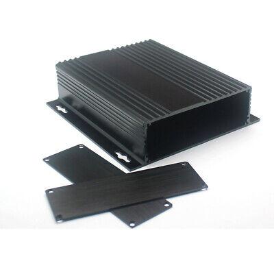 150*147*41mm Black Aluminum Instrument Box PCB Enclosure Electronic Separable