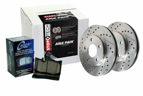 Front Brake Pads and Rotors Slotted and Drilled Kit 928.65015