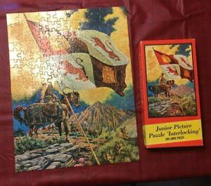 vintage built rite jig  puzzle  pcs  horse