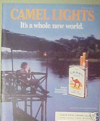 1986 It's A Whole New World Camel Lights s AD