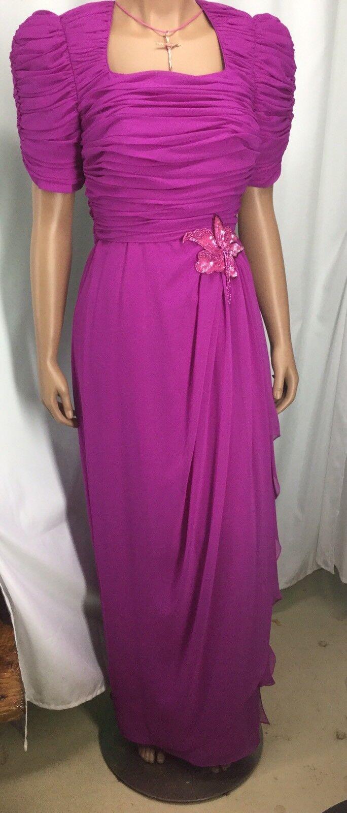 Miss Elliette Fushia Pink Long Formal Dress Womens Size 4 NWT 171008MFC DHB