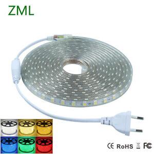 1M-2M-5M-10-M-STRISCIA-STRIP-LED-BOBINA-SMD-5050-SPINA-220V-BIANCA-TUBO-ESTERNO