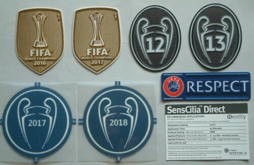 Patches Real Madrid UEFA Champions League 2017-2019 Official Set