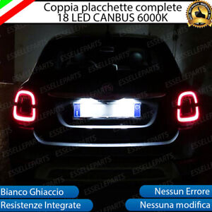 COPPIA-LUCI-TARGA-PLAFONIERE-COMPLETE-FIAT-500X-RESTYLING-18-LED-CANBUS-6000K