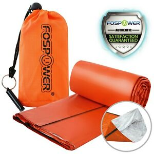 Fospower-Durable-Waterproof-Emergency-Survival-Sleeping-Bag-Stuff-Sack-amp-Whistle