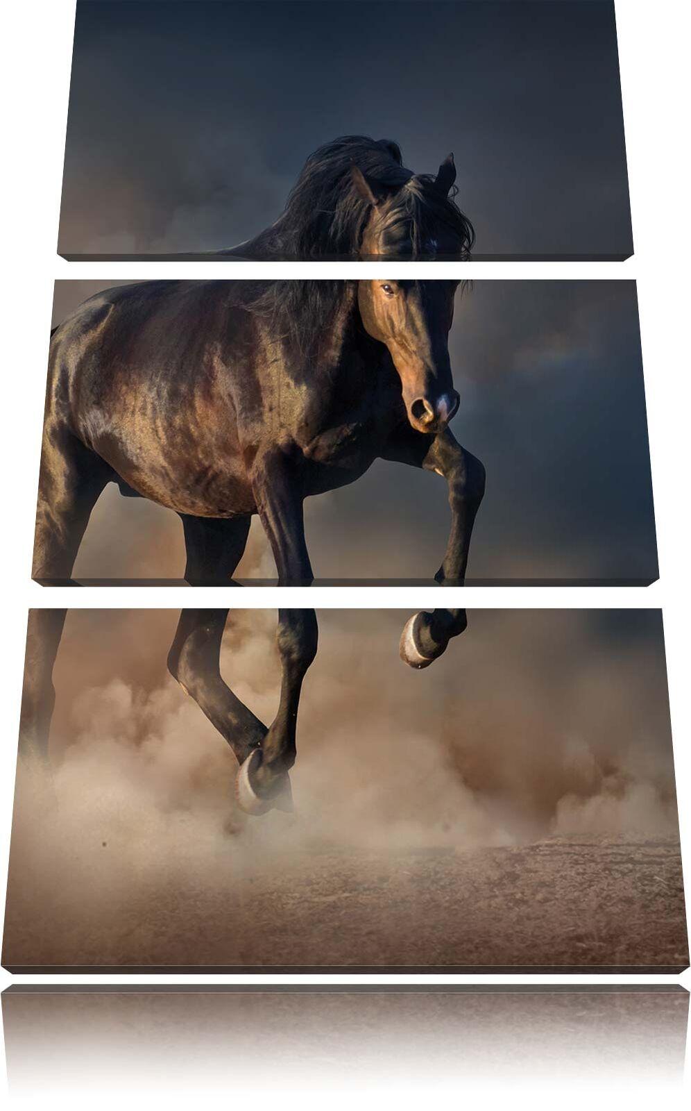 Nero Cavallo 3-teiler Quadro su Tel