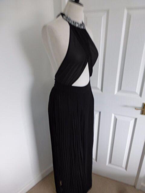 8db3c1148f50 BNWT Ted Baker Langley Erela Black Embellished Maxi Cover Up Dress size L