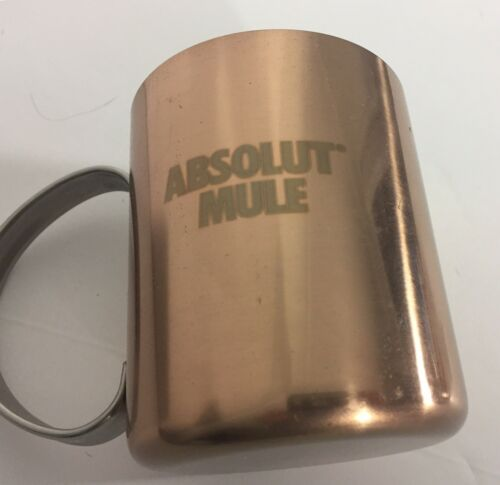 Absolut Mule Vodka Copper Metal Cup Mug Moscow New