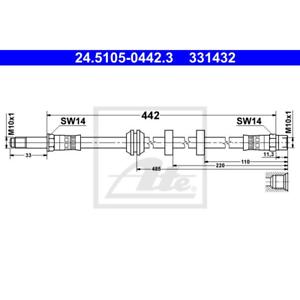 Bremsschlauch ATE 24.5105-0442.3