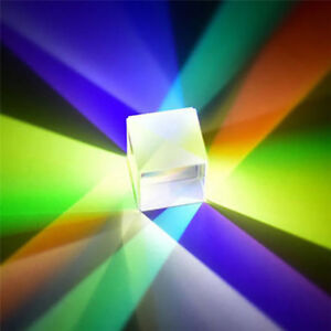 FJ-X-CUBE-PRISM-DEFECTIVE-CROSS-DICHROIC-COMBINER-SPLITTER-OPTICAL-GLASS-DECOR