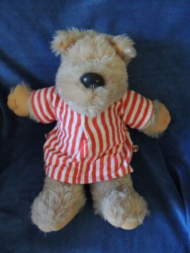 "VINTAGE 1983 GRAPHICS INTL BROWN TEDDY BEAR PJ'S NIGHTGOWN STUFFED 18"" PLUSH"