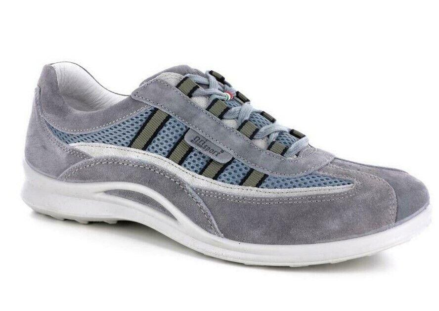 Zapatos grisport de Piel Auténtica Hombre Cordones Art 8409 con gris