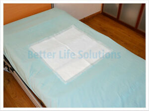 Image Is Loading 25 Disposable Incontinence Bed Pads 60 X 60cm