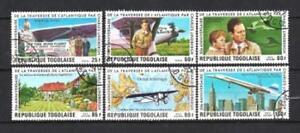 Avions-Togo-57-serie-complete-de-6-timbres-obliteres