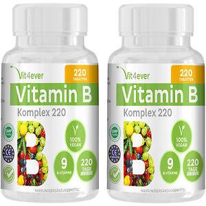 2x vitamin b komplex 440 tabletten hochdosiert b1 b2 b3. Black Bedroom Furniture Sets. Home Design Ideas