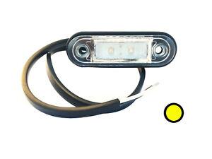 2x LED Begrenzungsleuchte 12V 24V Umrissleuchte Weiß Anhänger LKW 120x46x18 SET