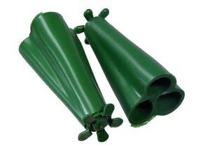 100-X-Plastik-Wigwam-Garten-Zuckerstange-Sicherheit-Schutz-Grip-Halter-Bindet