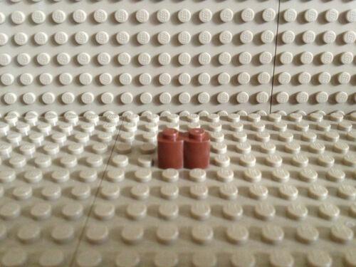 LEGO ® 10 x palissade palissade pierre 1x2 brun rouge NEUF 30136