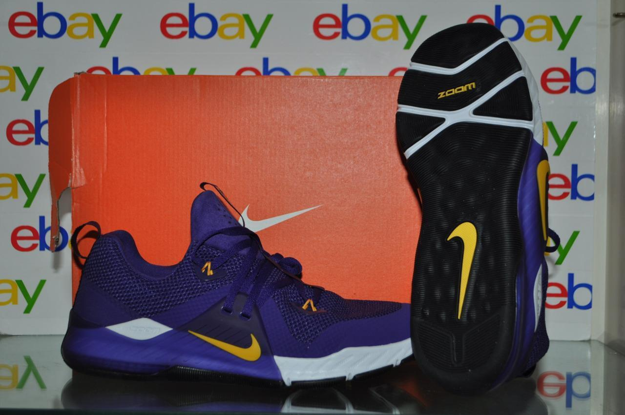 Nike Zoom Train Command College Mens Shoes AO4397 571 LSU Tigers Purple NIB