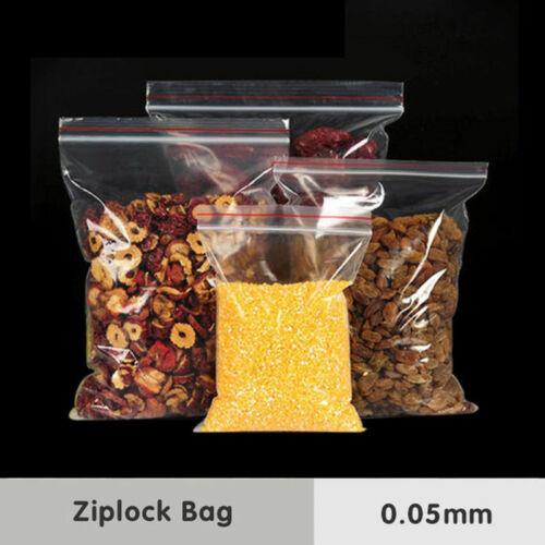 Clear Zip Lock Bags Replacement PE Transparent Set Protection 100Pcs Practical