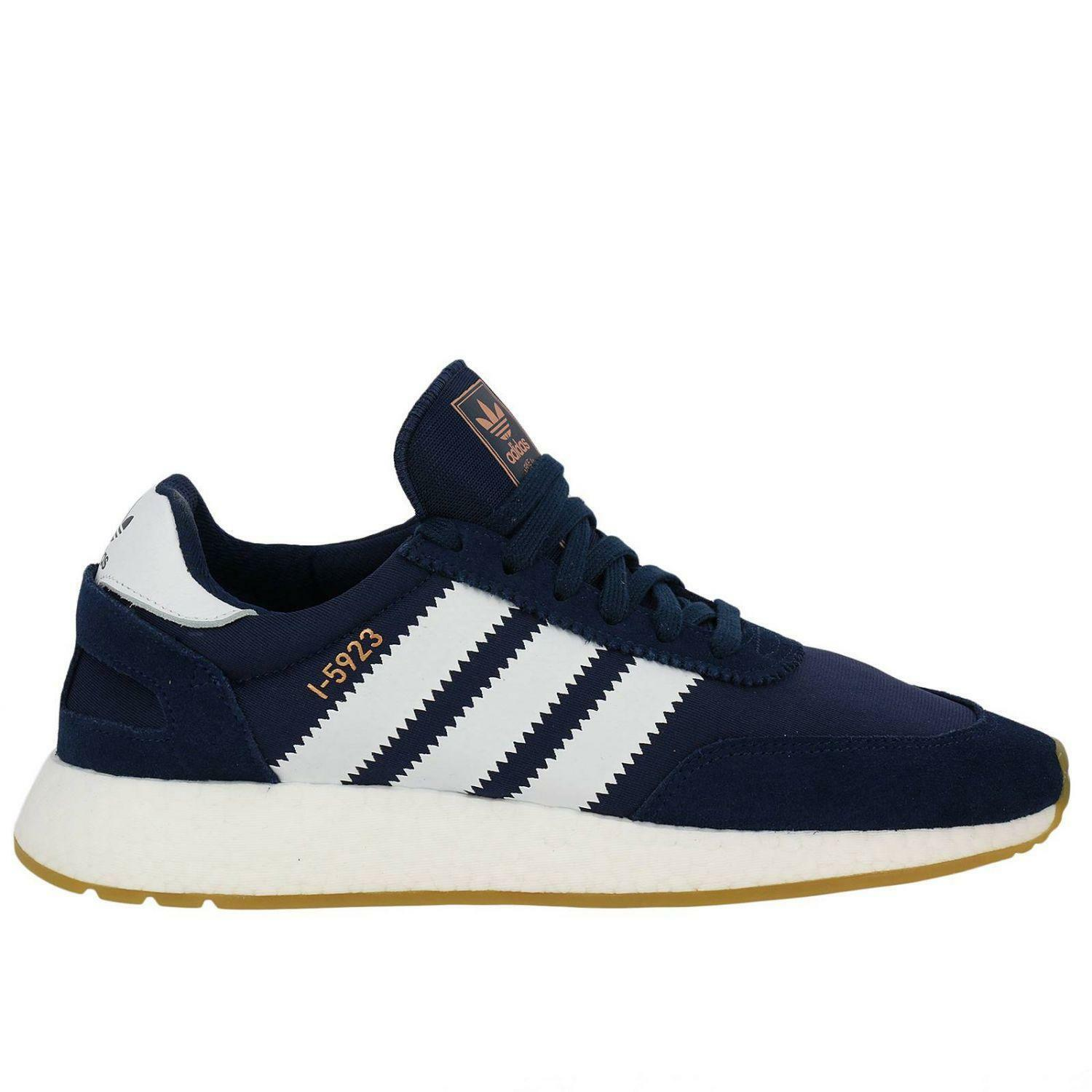 Mens ADIDAS INIKI RUNNER Navy bluee Trainers BB2092