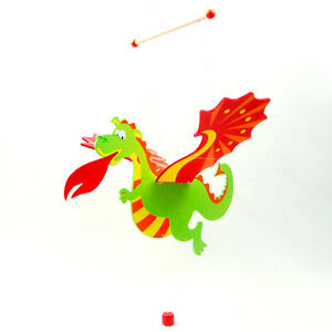Details About New Wooden Flying Dragon Nursery Room Decor Baby Mobile