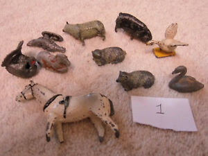 VINTAGE-LEAD-ANIMALS-AND-BIRDS-Job-Lot