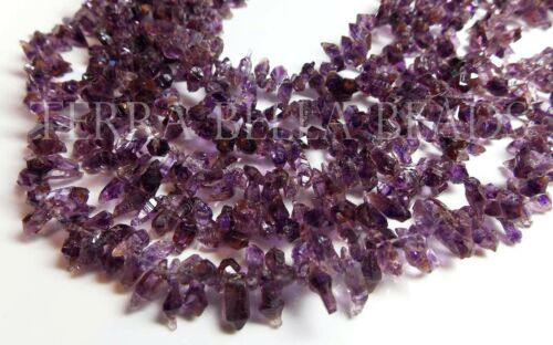 "9"" AMETRINE gem stone rough crystal nugget beads 6mm - 8mm amethyst citrine"