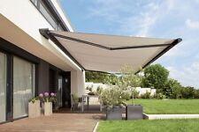 SUNESTA  Luxury 25 ft Electric Retractable Patio Awning in Tan