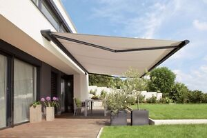 SUNESTA Luxury 25 Ft Electric Retractable Patio Awning In Tan EBay