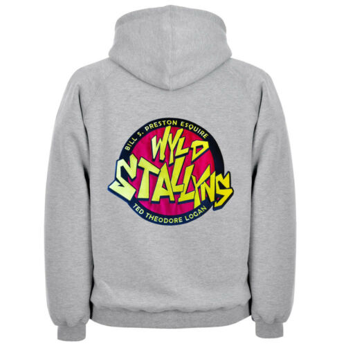 Mens /& Womens Bill N Teds Wyld Stallyns EMBROIDERED Band Tour Movie Hoodie Film