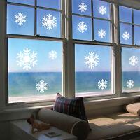 12pcs/set Christmas Snowflake Ornaments Xmas Wall Window Sticker Home Decoration