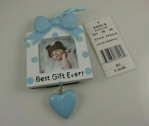 Christmas-ornament-or-anytime-Best-gift-ever-new-baby-boy-blue-bow-photo-frame