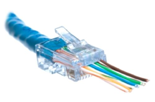 1000 Pcs RJ45 Network Cable Modular Plug CAT6 8P8C Connector End Pass Through