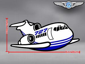 BOEING-B-727-B727-CUT-TO-SHAPE-DECAL-STICKER-8-x-3-5-in-20-x-9-cm