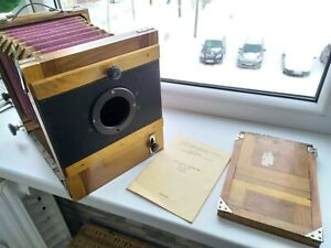 Wooden Large Format camera FKD 13x18 with Lens Industar 51 F1:4,5/210mm