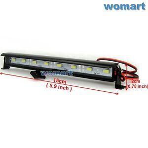110 rc aluminum led light bar 674v jr plug 8 lights for rock image is loading 1 10 rc aluminum led light bar 6 aloadofball Images