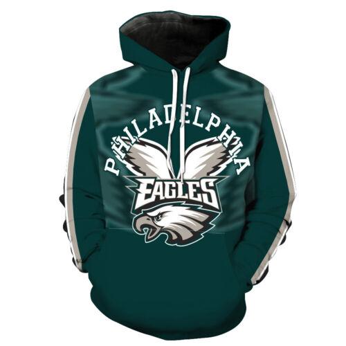 Hoody Philadelphia Eagles Hoodie Sweatshirt 3D Print Sport Kapuzenpullover
